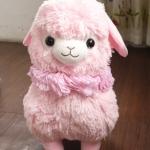 ตุ๊กตาอัลปาก้า Alpaca สีชมพู สวมมงกุฎ ขนาดสูง 16 นิ้ว