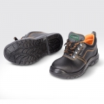 รองเท้านิรภัย หุ้มส้น หนังอัดลาย หัวเหล็ก พื้น PU รุ่น AS-SS101 ( Safety Shoes )