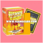 Dragon Shield Standard Size Card Sleeves - Orange • Matte 100ct.