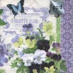 กระดาษแนปกิ้น เดคูพาจ 7725 butterfly and flower