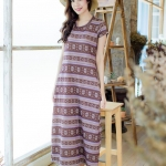 Maxi Pockets - Authentic Aztec สีม่วง
