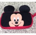 กระเป๋าใส่ดินสอ หรือ เครื่องสำอางค์ มีซิป 2 ช่อง ลาย Mickey Mouse