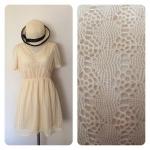 Mini Dress ผ้าลูกไม้สีครีม