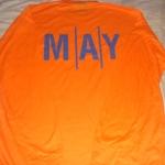 เสื้อคนงาน สีส้ม