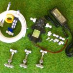 SAVE SET 8 ชุดพ่นหมอก 3 ชุดหัวพ่นหมอกเนต้าฟิล์ม 0.6 mm. 4 ทิศทาง + สายพ่นหมอก 15 เมตร ( ใช้ได้ทั้งแบตเตอรี่และไฟบ้าน 220 โวลต์ )
