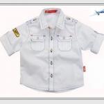 Kidsplanet----เสื้อเชิ้ตแขนยาวสีขาว เดินเส้นด้ายตามเสื้อ กระเป๋า 2 ข้าง ติดกระดุมที่บ่า หล่อสุดๆ ผ้าก็ดี๊ดี คอนเฟิร์มค่ะ size 3, 4, 5