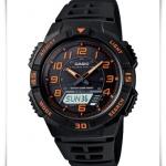 นาฬิกาข้อมือ คาสิโอ Casio Mens Tough Solar LED Light Black Sports Watch รุ่น AQ-S800W-1B2V