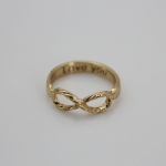 LOVE YOU FOREVER GOLD RING แหวนสีทองบอกรัก รักเธอเสมอไป