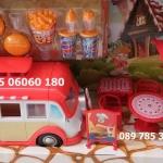 รถแวนร้านขายอาหารฟาสฟูดส์ของเล่นเด็ก