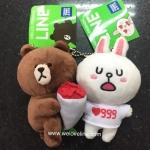 พวงกุญแจตุ๊กตาไลน์คู่ หมีบราวน์ Line Brown กับโคนี่ Cony ขนาด 10 cm (ราคาต่อคู่)