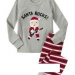 ชุดนอน Baby Gap ลายแซนต้า (Santa) งานส่งออก USA เนื้อผ้าดี สกรีนเนี๊ยบ งานสวยเหมือนแบบ กางเกงมีก้นเผื่อใส่แพมเพิสด้วยค่ะ size 2T-7T