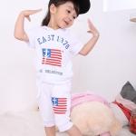 ชุดเด็ก ลาย EAST มีฮูด สีขาว สไตล์เกาหลี