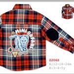 Kidsplanet (Mini Safari)----เสื้อเชิ้ตแขนยาวสก๊อตแดง น้ำเงิน ปะแปะสิงโตด้านหลัง ปะผ้าเก๋ๆ ตรงแขน เท่ห์มากค่ะ ผ้าก็ดี๊ดี คอนเฟิร์มค่ะ size 3, 4, 5