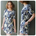 NATURAL PRINTED DRESS WITH POCKETS