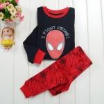 ชุดนอน/ชุดลำลองแขนยาว Spiderman ผ้ายืดนิ่มๆ เอวกางเกงเป็นยางยืดเหมือนในรูป ไม่เสียง่าย ใส่สบายค่ะ size 2T-7T