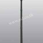 โคมไฟหัวเสาสนามนอกบ้าน SL-11-5051CF-BK-2A