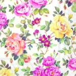 Flower colorful กระดาษแนปกิ้น เดคูพาจ 568660