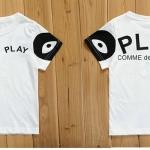 เสื้อเด็ก น่ารัก สไตล์เกาหลี สีขาวแขนดำ ลาย Play (ซื้อ 3 ตัว ราคาส่ง 150 บาท) คละลายได้ค่ะ