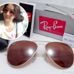 RB 3025 AVIATOR LARGE METAL 001/4B 58-14 3N <ชมพู>