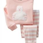Pre-ขุดนอน Baby Gap แขนยาว ลาย หมีสีชมพู