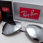 Ray Ban Aviator Flat Metal RB3513 147/13 ปรอทเงิน