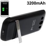 3200mAh Scrub Portable Power Bank Samsung Galaxy S 3 III (Black)