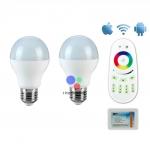 LED Wifi Bulb 6w RGB 2 หลอด พร้อมรีโมทและคอนโทรลเลอร์