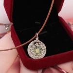 Little Flower in Glass Ball Necklace สร้อยคอดอกไม้ในหินลูกแก้ว