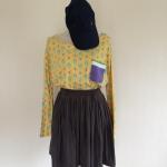 Velvet Skirt สีเทา