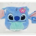 ถุงผ้าหูรูด ลาย สติช Stitch ขนาด 8x7 นิ้ว (ซื้อ 12 ชิ้น ราคาส่ง 100 บาท/ชิ้น)