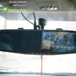 กล้องติดรถยนต์ หน้า - หลัง พร้อมจอฝังกระจก ใหม่ล่าสุด ปี 2015