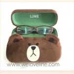 Brown Line หมีบราวน์ กล่องแว่นตา ขนกำมะหยี่ (ซื้อ 3 ชิ้น ราคาส่ง 220 บาท/ชิ้น)