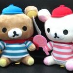 ตุ๊กตาน้องหมี Rilakkuma และ Korilakkuma ถืออมยิ้ม (ราคาต่อคู่ค่ะ)