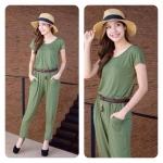 Plain Jumpsuits สีเขียว