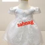 ชุดเจ้าหญิงน้อยสีขาวแขนตุ๊กตามีโบว์เล็ก BL280 S-24