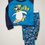 ชุดนอน Baby Gap ลายเพนกวิน (Pinguin) งานส่งออก USA เนื้อผ้าดี สกรีนเนี๊ยบ งานสวยเหมือนแบบ กางเกงมีก้นเผื่อใส่แพมเพิสด้วยค่ะ size 2T-7T