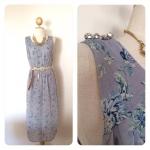 Maxi Dress ลายดอกไม้สีน้ำเงิน