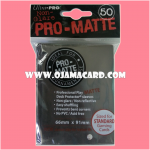 Ultra•Pro Pro-Matte Standard Deck Protector / Sleeve - Black 50ct.