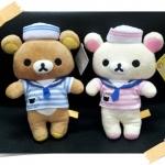 ตุ๊กตา หมีคู่ ลาย Rilakkuma (หมีน้ำตาล) และ Korilakkuma (หมีสีครีม) ขายเป็นคู่ ขนาด 7 นิ้ว