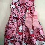 HM (ชนช๊อป) Patterned dress- Pink Kitty ชุดกระโปรงแขนกุดลายคิตตึ้ ติดโบว์ใหญ่ๆ สดใส น่ารักมากๆ ค่ะ size 8-10, 12-14 สำเนา