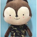 ตุ๊กตากระรอก ชุดทหาร ซีรีย์เกาหลี Descendants of the sun ขนาดใหญ่ 20 นิ้ว