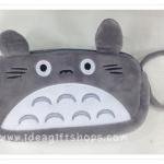 กระเป๋าใส่ดินสอ หรือ เครื่องสำอางค์ มีซิป 2 ช่อง ลาย Totoro รุ่นใหม่