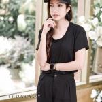 Basic Comfy T-Shirt สีดำ (ไซส์ใหญ่ขึ้น )