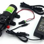 """ปั๊มน้ำ ปั๊มพ่นยา DC12V รุ่น GREEN-04 แรงดัน 8 บาร์ แบบเสียบสาย 3/8"""" + Adapter 12VDC 5A 5.5 mm. x 2.5 mm. รุ่น YU1205 + แจ็ค DC ( ตัวเมีย )"""