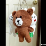 พวงกุญแจ ตุ๊กตาline หมี Brown ขนาด 10 cm.
