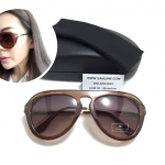 แว่นกันแดด Zara Retro Style Resin Sunglasses <น้ำตาล>