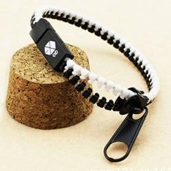EXO Fanclub Zip Bracelet สร้อยข้อมือซิปขาวดำ สัญญลักษณ์วง EXO