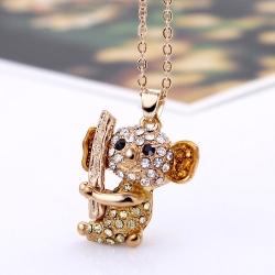 Lovely Koala Crystal Necklace สร้อยคอรูปหมีโคอาล่าแต่งคริสตัล สวยหรูวิบวับ
