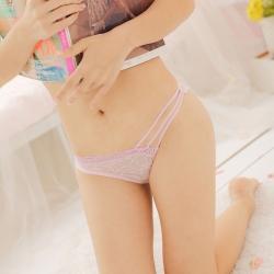 Sweet Pink Sexy Lace Panties กางเกงในลูกไม้ซีทรูสีชมพูสไตล์เจ้าหญิง