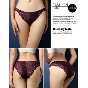 Sexy Purple Lace Panty กางเกงในลูกไม้สีม่วง สุดเซ็กซี่